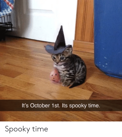 Time, Spooky, and October: It's October 1st. Its spooky time. Spooky time