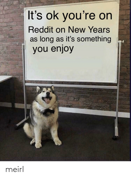 New Years: It's ok you're on  Reddit on New Years  as long as it's something  you enjoy meirl