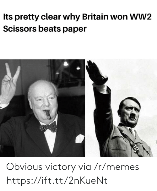 ww2: Its pretty clear why Britain won WW2  Scissors beats paper Obvious victory via /r/memes https://ift.tt/2nKueNt