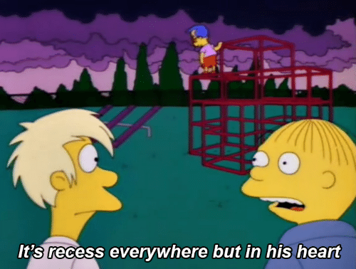 Recess, Heart, and Everywhere: It's recess everywhere but in his heart