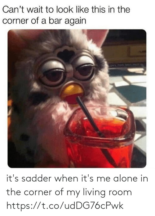 Corner: it's sadder when it's me alone in the corner of my living room https://t.co/udDG76cPwk