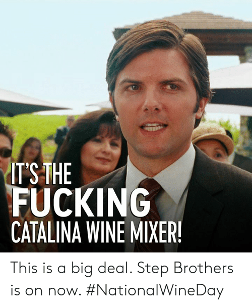 mixer: ITSTHE  FUCKING  CATALINA WINE MIXER This is a big deal. Step Brothers is on now. #NationalWineDay