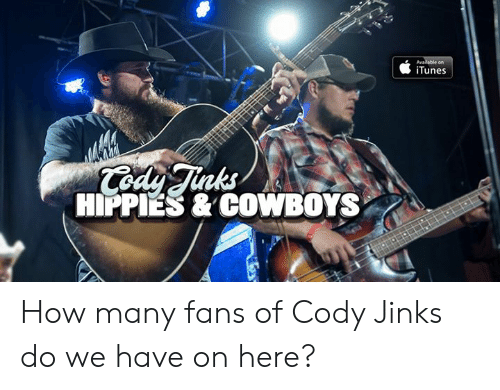 iTunes: iTunes  nks  HIPPIES & COWBOYS How many fans of Cody Jinks do we have on here?