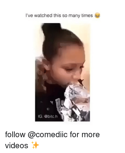 Memes, Videos, and 🤖: I've watched this so many times  IG @bitc.h follow @comediic for more videos ✨