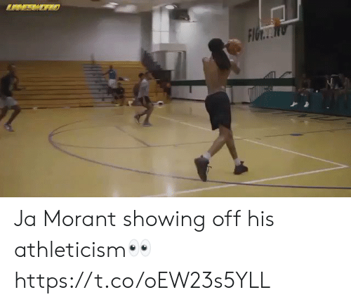 showing off: Ja Morant showing off his athleticism👀 https://t.co/oEW23s5YLL