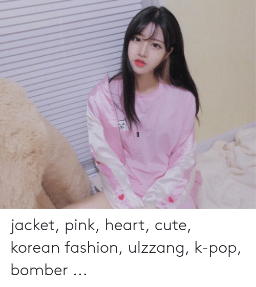 Jacket Pink Heart Cute Korean Fashion Ulzzang K,Pop Bomber