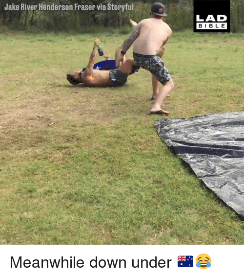 Dank, Bible, and 🤖: Jake River Henderson Fraser via Storyful  LAD  BIBLE Meanwhile down under 🇦🇺😂