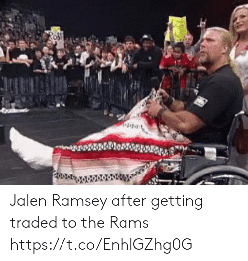 Nfl, Rams, and Ramsey: Jalen Ramsey after getting traded to the Rams https://t.co/EnhlGZhg0G