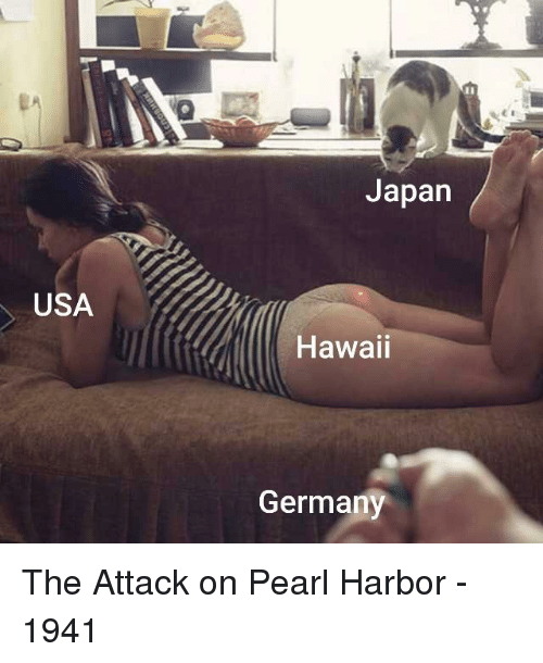 Germany, Hawaii, and Japan: Japan  USA  Hawaii  Germany The Attack on Pearl Harbor - 1941