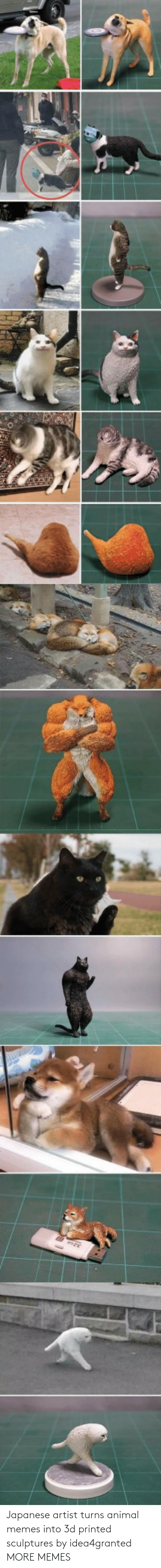 Turns: Japanese artist turns animal memes into 3d printed sculptures by idea4granted MORE MEMES
