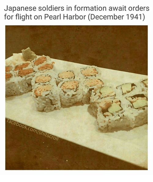 Pearl Harbor, Pearl, and Pearls: Japanese soldiers in formation await orders  for flight on Pearl Harbor (December 1941)  ook