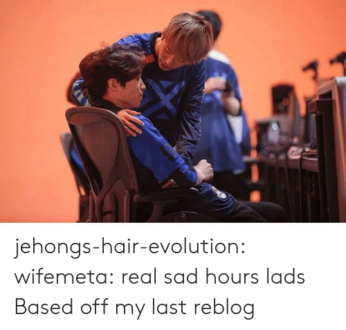 Tumblr, Blog, and Evolution: jehongs-hair-evolution:  wifemeta: real sad hours lads  Based off my last reblog