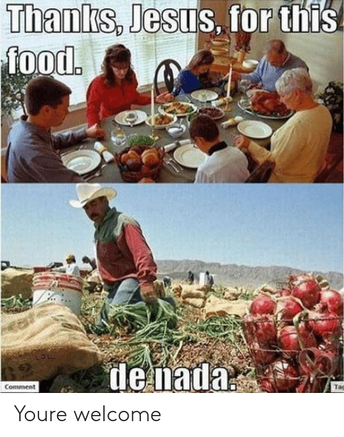 Food, Jesus, and You: Jesus, for this  Thanks,  food  denada  Comment Youre welcome