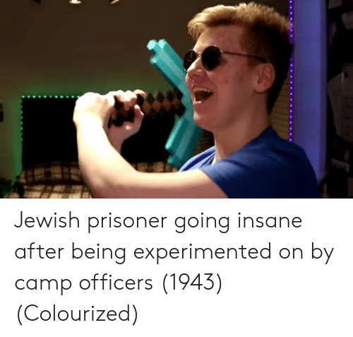 Going Insane: Jewish prisoner going insane after being experimented on by camp officers (1943) (Colourized)