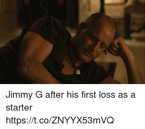 Memes, 🤖, and First: Jimmy G after his first loss as a starter https://t.co/ZNYYX53mVQ