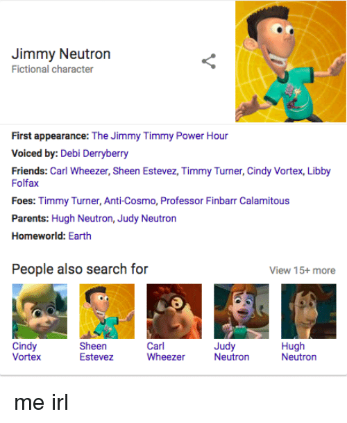 Jimmy Neutron Fictional Character First Appearance The Jimmy Timmy