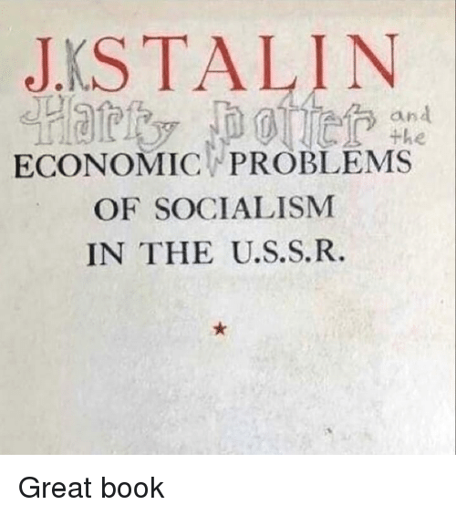 economic: JKSTALIN  an  ECONOMIC PROBLEMS  OF SOCIALISM  IN THE U.S.S.R. Great book