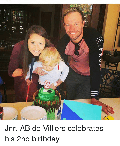 Birthday, Memes, and 🤖: Jnr. AB de Villiers celebrates his 2nd birthday