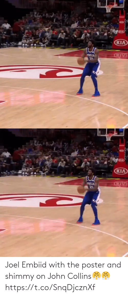 john: Joel Embiid with the poster and shimmy on John Collins😤😤 https://t.co/SnqDjcznXf