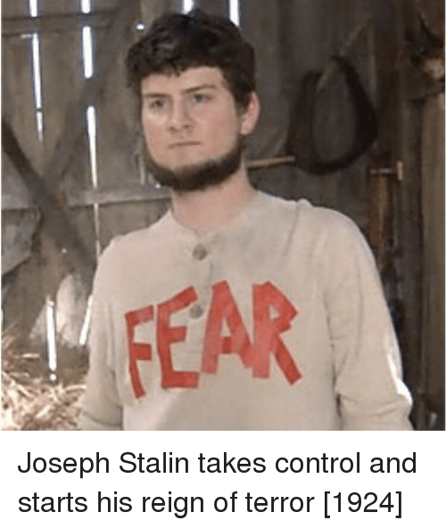 reign: Joseph Stalin takes control and starts his reign of terror [1924]
