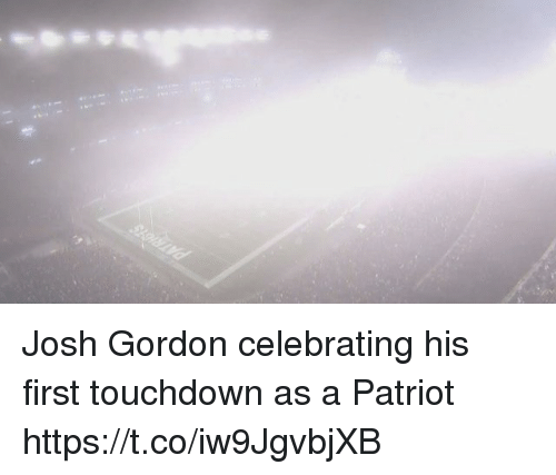 Tom Brady, Josh Gordon, and Patriot: Josh Gordon celebrating his first touchdown as a Patriot https://t.co/iw9JgvbjXB