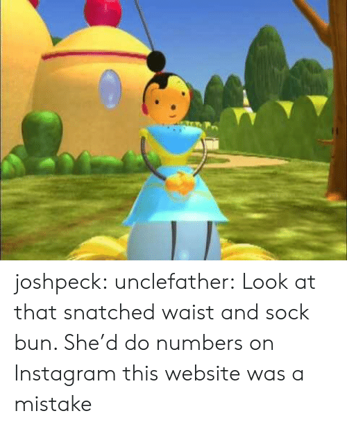 Instagram, Tumblr, and Blog: joshpeck: unclefather: Look at that snatched waist and sock bun. She'd do numbers on Instagram this website was a mistake