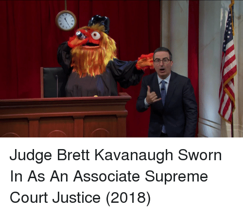 Supreme, Supreme Court, and Justice: Judge Brett Kavanaugh Sworn In As An Associate Supreme Court Justice (2018)