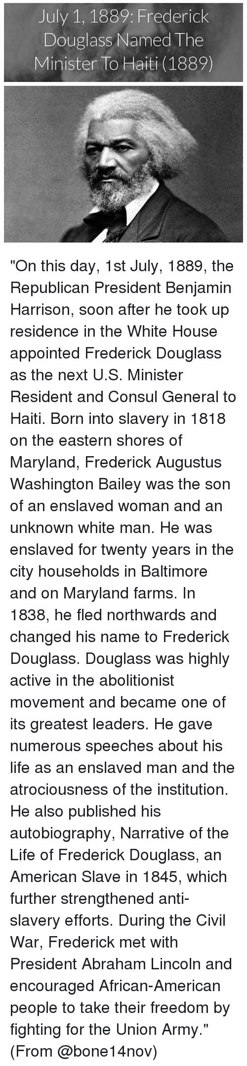 a biography of the early life and abolitionist activities of fredriclk augustus washington bailey