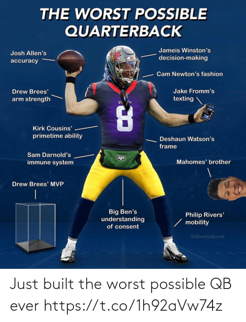ever: Just built the worst possible QB ever https://t.co/1h92aVw74z