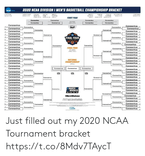 Tournament: Just filled out my 2020 NCAA Tournament bracket https://t.co/8Mdv7TAycT