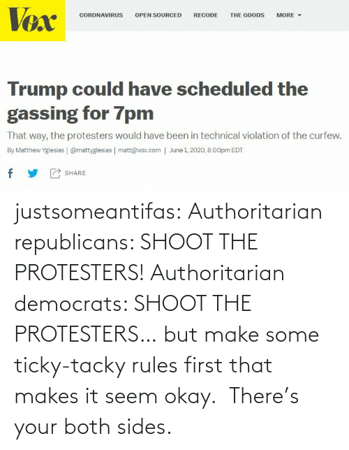 Seem: justsomeantifas: Authoritarian republicans: SHOOT THE PROTESTERS!