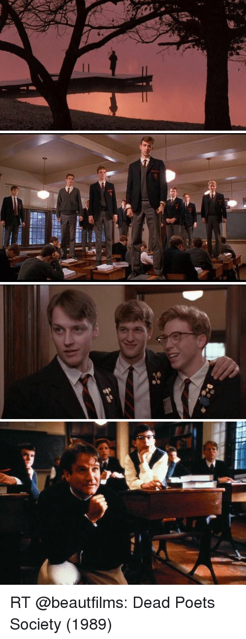 an analysis of the conformity in the wave and dead poets society Society is a wave the wave moves onward, but the water of which it is composed does not  all men plume themselves on the improvement of society, and no man improves.
