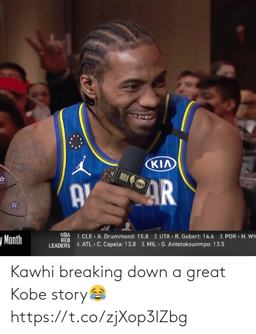 breaking down: Kawhi breaking down a great Kobe story😂 https://t.co/zjXop3lZbg