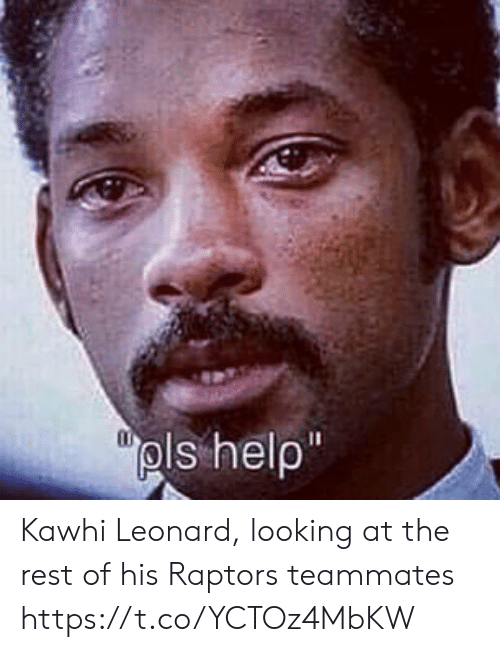 Sports, Kawhi Leonard, and Looking: Kawhi Leonard, looking at the rest of his Raptors teammates https://t.co/YCTOz4MbKW