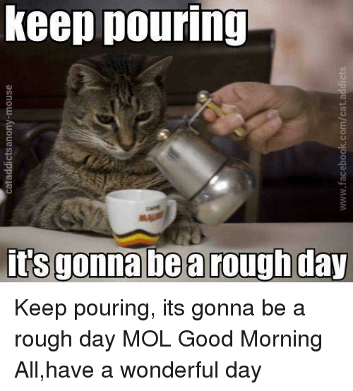 Keep Pouring Ro Its Gonna Be A Rough Day Keep Pouring Its Gonna Be