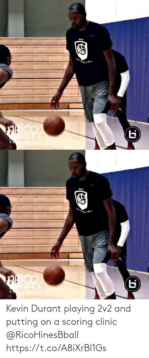 putting: Kevin Durant playing 2v2 and putting on a scoring clinic @RicoHinesBball https://t.co/A8iXrBl1Gs