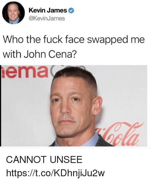 Kevin Jameso Who the Fuck Face Swapped Me With John Cena