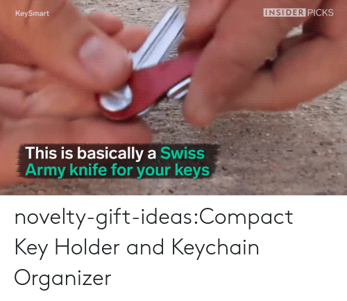 Organizer: KeySmart  INSIDER PICKS  This is basically a Swiss  Army knife for your keys novelty-gift-ideas:Compact Key Holder and Keychain Organizer