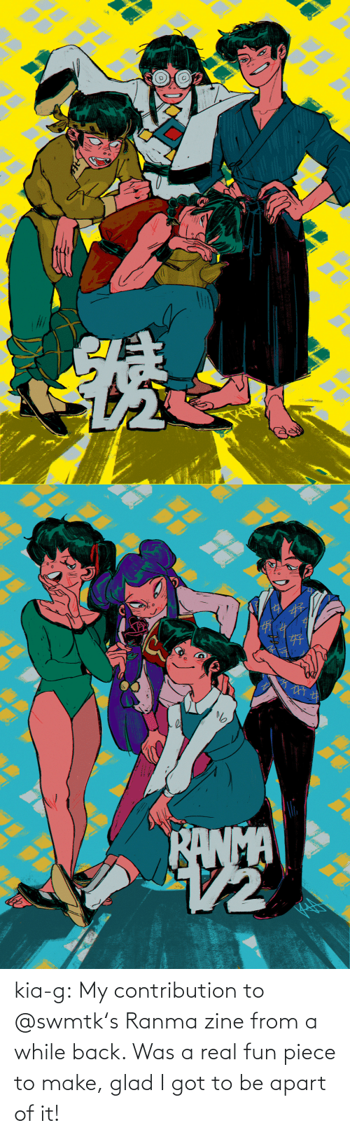 ranma: kia-g:  My contribution to @swmtk's Ranma zine from a while back. Was a real fun piece to make, glad I got to be apart of it!