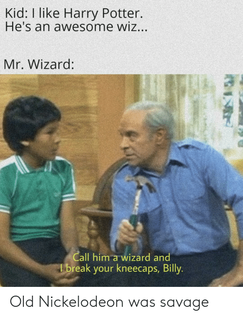 Kid I Like Harry Potter He's an Awesome Wiz Mr Wizard Call