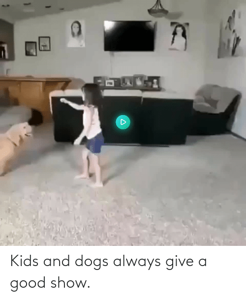 Good: Kids and dogs always give a good show.