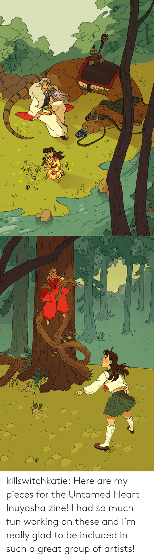 Target, Tumblr, and Blog: killswitchkatie: Here are my pieces for the Untamed Heart Inuyasha zine! I had so much fun working on these and I'm really glad to be included in such a great group of artists!