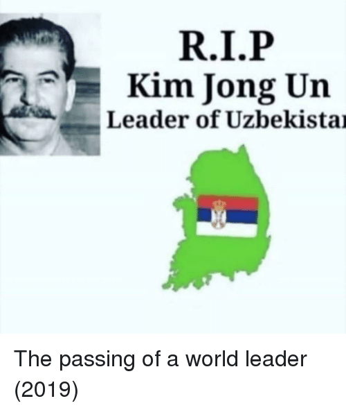 Kim Jong-un: Kim Jong Un  Leader of Uzbekistai The passing of a world leader (2019)