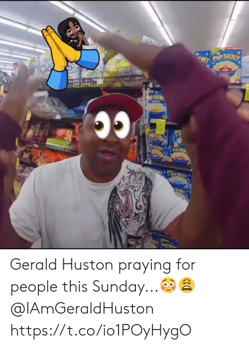 Pop, Sunday, and Secret: KIN  POP SECRET  RE  SH Gerald Huston praying for people this Sunday...?? @IAmGeraldHuston https://t.co/io1POyHygO
