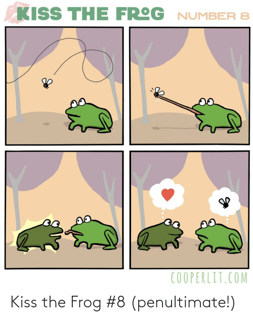 Kiss, Com, and Frog: KISS THE FROG NUMBER 8  COOPERLIT.COM Kiss the Frog #8 (penultimate!)