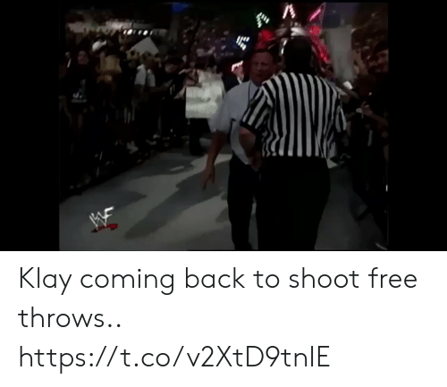 Football, Nfl, and Sports: Klay coming back to shoot free throws.. https://t.co/v2XtD9tnIE