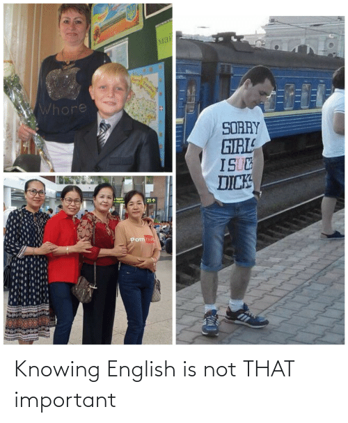 Not That: Knowing English is not THAT important