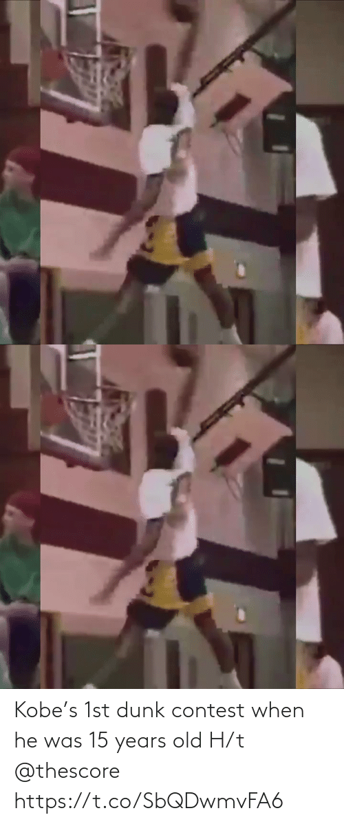 Years Old: Kobe's 1st dunk contest when he was 15 years old H/t @thescore https://t.co/SbQDwmvFA6