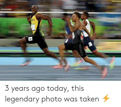 Taken, Today, and Photo: L T  6 3 years ago today, this legendary photo was taken ⚡️