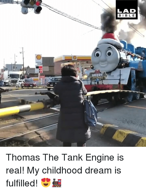 thomas the tank engine: LAD  BIBLE Thomas The Tank Engine is real! My childhood dream is fulfilled! 😍🚂